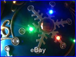 17 Winter Lane Blue Fiber Optic Ornament Multi Color LED Lights Commercial