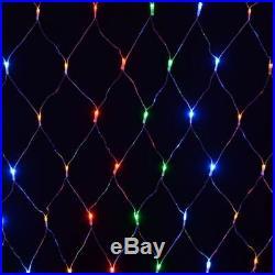 180 Led Net Lights Xmas Multi Effect Festive Christmas Curtain Multi Xa8543