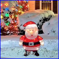 18 Pre-Lit Tinsel Santa Claus Outdoor Christmas Holiday Decoration Decor New