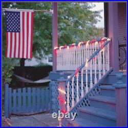 18′ Red, White and Blue Rope Light for Memorial Day and Patriotic Parties