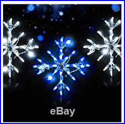 18 Snowflake 3 Pack Christmas Holiday Outdoor LED Lighted Decoration Wireframe