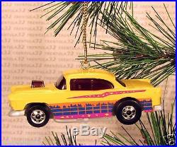 1955 CHEVY '55 CHRISTMAS ORNAMENT Yellow rare XMAS