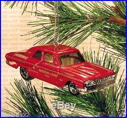 1964 FORD FAIRLANE THUNDERBOLT CHRISTMAS ORNAMENT Red rare XMAS