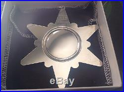 1970-1979 Sterling Silver Gorham Annual Snowflake Ornaments with Boxes & Pouches