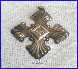 1973 Sterling Silver Reed & Barton Annual Cross Ornament or pendant
