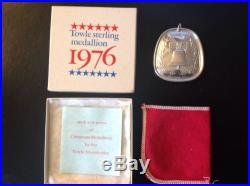 1976 Towle Annual Sterling Silver 12 Days of Christmas Medallion Liberty Bell