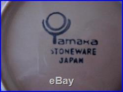 1980s Yamaka Noel Christmas Tree Japan Stoneware 30 Pieces