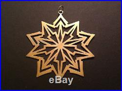 1981 Sterling Silver and Gold Vermeil MMA Annual Snowflake Ornament