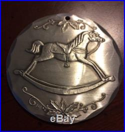 1985 WENDELL AUGUST FORGE Rocking Horse Ornaments Aluminum Christmas Ornament