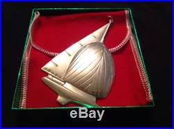 1987 Sterling Silver Gorham American Heritage Twelve Meter Ornament With Box