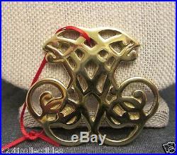1988 Colonial Williamsburg Virginia Jefferson Cipher Gold Brass symbol