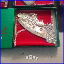 1989 Sterling Silver Gorham American Heritage Christmas Eagle Ornament With Box