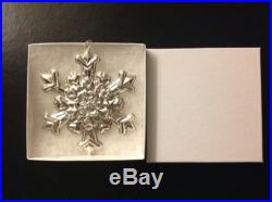 1995 Sterling Silver Gorham Annual Snowflake Ornament