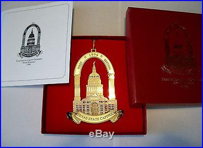 1996 Texas State Capitol Christmas Ornament First Edition
