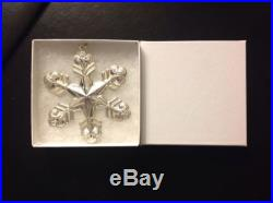 1998 Sterling Silver Gorham Annual Snowflake Ornament