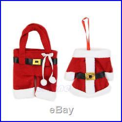 1Set Christmas Decorations Happy Santa Silverware Holders Pockets Dinner Decor
