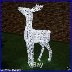 1.1m Outdoor Garden Twinkling Led Acrylic Reindeer Christmas Xmas Figure Light