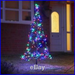 1.85m Fairybell pre lit 3D outdoor Christmas/Xmas tree 250 LED lights