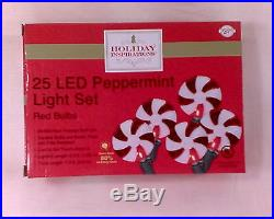 1 BOX OF LED PEPPERMINT CHRISTMAS LIGHT SET, INDOOR & OUTDOOR USE