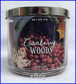 1 Bath & Body Works CRANBERRY WOODS 3-Wick Scented 14.5 oz Candle