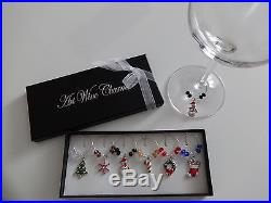 1 Box Mixed Christmas Wine Glass Charms Table Decorations
