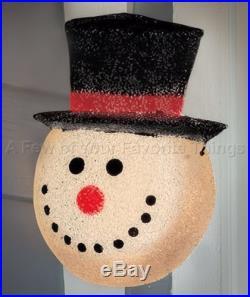 1 SNOWMAN CHRISTMAS WINTER PORCH LIGHT COVER OUTDOOR GARAGE PATIO HOME DECOR