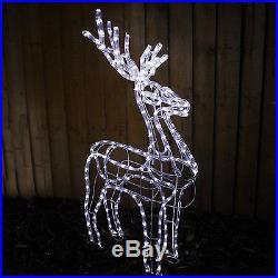 1m Christmas XMAS Reindeer Sleigh LED Lights Garden Outdoor Decorations Figure