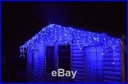 2000 (41.7m) Super Bright Blue LED Chasing Icicle Lights With Multi Control NEW