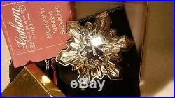 2000 Sterling Silver Gorham Millennium Snowflake Ornament With Box And Pouch