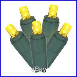 200ct LED String Lights Set EC 6Sp 100′L Yellow