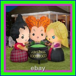 2021 Disney Hocus Pocus Sanderson Sisters 4.5 ft Halloween Inflatable Airblown