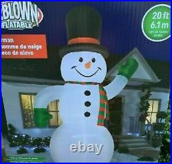 20 Foot Frosty Snowman Gemmy Airblown Inflatable LED Yard Decor