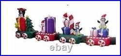 20′ Huge Colosal Christmas Train Santa, Gifts, & Penquins Lighted Yard Decor