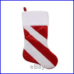 20 Red and White Christmas Stocking Decor Christmas Decoration Santa Claus Gift