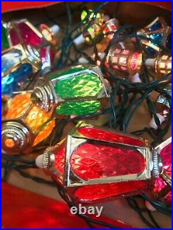20x VINTAGE PIFCO NO. 1299 LONDON LIGHTS LANTERN STRING CHRISTMAS WORKING BOX