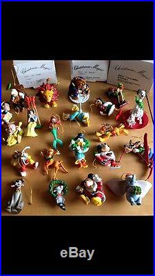 21 BOXED GROLIER DISNEY CHRISTMAS TREE DECORATIONS/ORNAMENTS