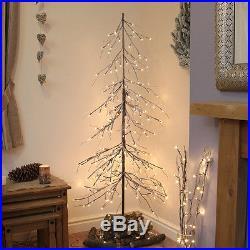 240 Led 1.8m 6ft Indoor Pre Lit Downswept Snow Twig Christmas Decor Tree Light