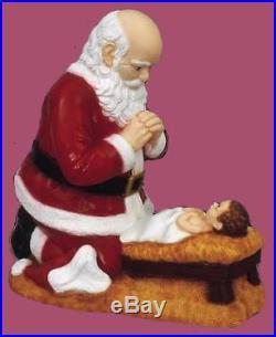 24 Kneeling Santa with Baby Jesus Statue Outdoor/Indoor