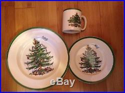 24 Piece Spode Christmas Tree Dinnerware Set