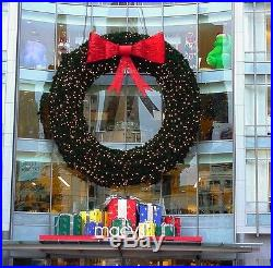 25ft LARGE OUTDOOR CHRISTMAS WREATH LED LIGHTS 25′ DIAM ARTIFICIAL XMASS WREATH