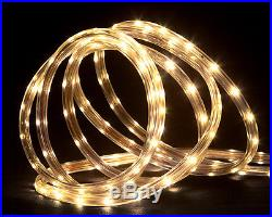 288′ Commericial Grade Warm White LED Indoor/Outdoor Christmas Rope Lights on a