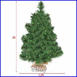 2Ft Artificial PVC Christmas Tree Small Holiday Season Home Decoration Decor