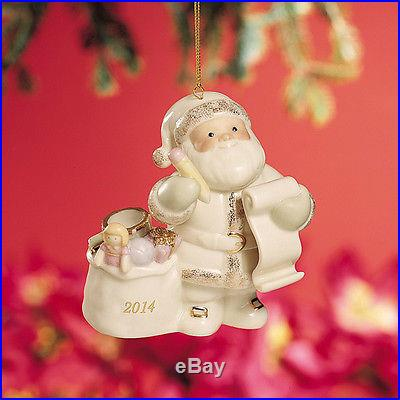 2ND UPDATE LENOX CHRISTMAS SANTA CHECKING HIS LIST ORNAMENT DATED 2014 PRE-ORDER