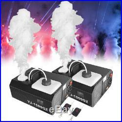 2Pcs 1500W DMX Vertical Stage Fog Smoke Machine Upspray Fogger withWireless Remote
