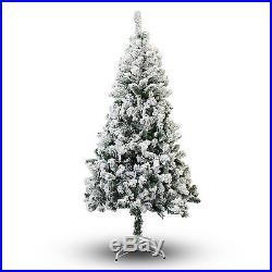 2,3,4,5,6,7,8,9,10 ft feet Snow Flocked snowflocked Artificial Christmas Tree