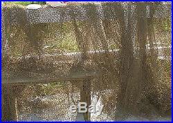 2@ 5′ x 132′ Fish Net Vintage Beach Decor MANY SIZES Batting Cage
