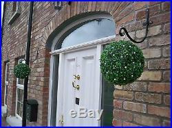 2 Best Artificial Pre Lit 28cm Green Boxwood Topiary Balls Hanging Grass Garden