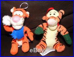 2 Winnie the Pooh TIGGER Plush Christmas ornaments Gund