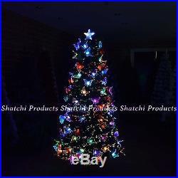 2ft, 3ft, 4ft, 5ft, 6ft LED Fibre Optic Christmas tree Pre-Lit Xmas Tree