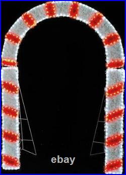 2m Candy Cane Archway Rope Light with Tinsel